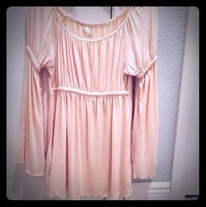 Boston Proper baby pink blouse